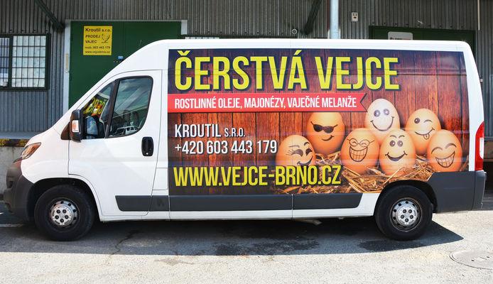 Rozvoz vajec po Brně a okolí